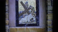 1962: shrine: jesus and the cross CHICAGOLAND AREA Stock Footage