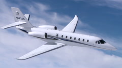 Cessna Citation Sovereign Jet Air To Air Steep Banking Right Stock Footage
