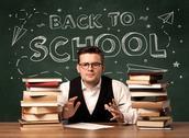 Back to school teacher Stock Photos