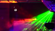 Laser light installation on the disco party Stock Footage