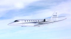 Cessna Citation Sovereign Jet Air To Air Banking to Right Stock Footage