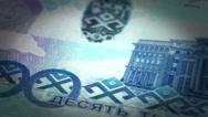 Kazakh Tenge Close-up Stock Footage