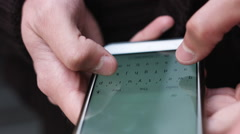 Writing messages on the smartphone Stock Footage