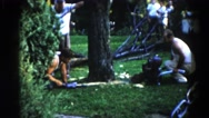 1962: a garden is seen CHICAGOLAND AREA Stock Footage