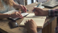Сolleagues discussing data working and tablet, laptop with on on architectural Stock Footage