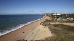 UK jurassic coast Burton Bradstock Dorset England uk Stock Footage