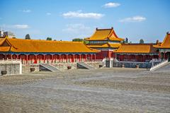 Traditional Chinese Building, Forbidden City in Beijing, clean sunny day Stock Photos