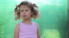 Little Girl Anger And Smile Stock Footage
