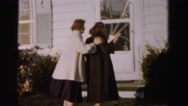 1956: mother teaches her child how to push women around MADISON, WISCONSIN Stock Footage