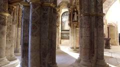 Templar christ convent Tomar Stock Footage