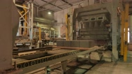 Factory for the production of concrete blocks and paving stones Stock Footage