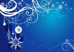 Blue winter background Stock Illustration