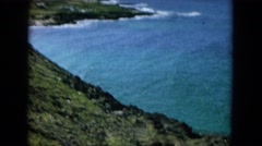 1964: the amazing rocky shore of a sea with blue water HAWAII Stock Footage