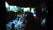 1964: an indoor feast is in place HAWAII Stock Footage