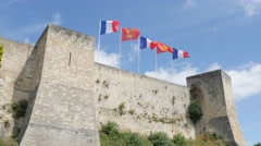 CAEN, FRANCE - AUGUST 2015 Famous  William the Conqueror  fortified castle Stock Footage