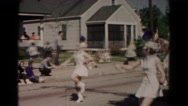 1966: marching band marching HAGERSTOWN, MARYLAND Stock Footage