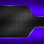 Blue metal frame on black metallic mesh. Stock Illustration