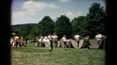1966: a camping scene HAGERSTOWN, MARYLAND Stock Footage