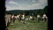 1966: boy scouts setting up a camp in a valley HAGERSTOWN, MARYLAND Stock Footage