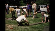 1966: youngsters having a good time with their friends in the day time. Stock Footage