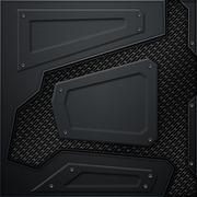 Scifi wall. black carbon fiber wall and black mesh. metal background Stock Illustration