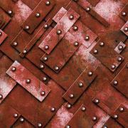 Rusty fix wall. grunge metal background. Stock Illustration