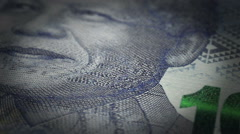South African Rands Close-up Stock Footage
