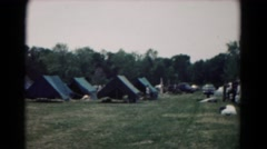 1966: vacation teepee campground with grass HAGERSTOWN, MARYLAND Stock Footage