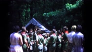 1966: group of boy scouts on a camping trip. HAGERSTOWN, MARYLAND Stock Footage