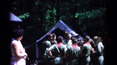 1966: a boy gives instructions to scouts HAGERSTOWN, MARYLAND Stock Footage
