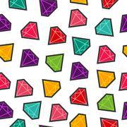 Diamond stone stitch patch pattern in fun colors Stock Illustration