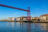 The Bizkaia suspension bridge in Portugalete, Spain Stock Photos