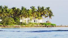 Key West Florida Island Boat Water Waves 5K HD Stock Footage