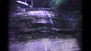 1966: water falling down a very flat cliff HAGERSTOWN, MARYLAND Stock Footage