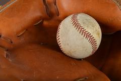 Baseball on Catcher Glove Kuvituskuvat