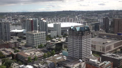 Aerial View Of B.C. Place Stadium Vancouver Canada 2016 Stock Footage