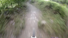 POV of a mountain biker on a singletrack trail. Stock Footage