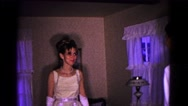 1966: a bride is seen walking HAGERSTOWN, MARYLAND Stock Footage