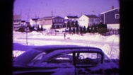 1966: a snow covered road is seen HAGERSTOWN, MARYLAND Stock Footage