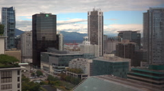 Vancouver City Centre Aerial Shot Pacific Centre Shopping Mall Stock Footage
