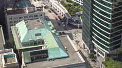 Aerial Looking Down At Canada Place Vancouver Canada Stock Footage