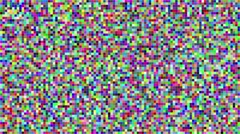 Abstract digital colorful pixels seamless pattern background Stock Footage