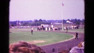 1966: an athletic scene is seen HAGERSTOWN, MARYLAND Stock Footage