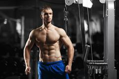 Bodybuilder man in the gym Stock Photos
