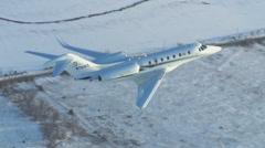 Cessna Citation X Final to Land Stock Footage