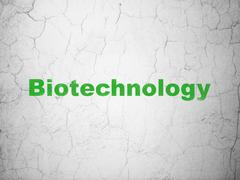 Science concept: Biotechnology on wall background Stock Illustration