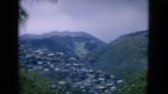 1964: urbanization in a beautiful valley. HAWAII Stock Footage