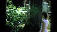 1964: girls exploring HAWAII Stock Footage
