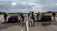 Streetrace a web in Sweden Stock Footage