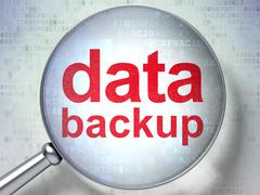 Data concept: Data Backup with optical glass Stock Illustration